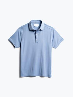 men's deep sky blue oxford apollo polo front