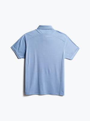 men's deep sky blue oxford apollo polo back