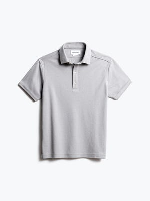 men's grey white heather apollo polo front
