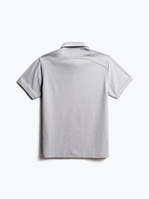 men's grey white heather apollo polo back