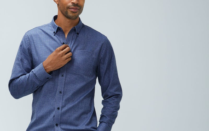 aero brushed button down