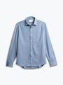 men's deep sky blue oxford apollo shirt flat shot of front