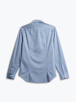 men's deep sky blue oxford apollo shirt flat shot of back