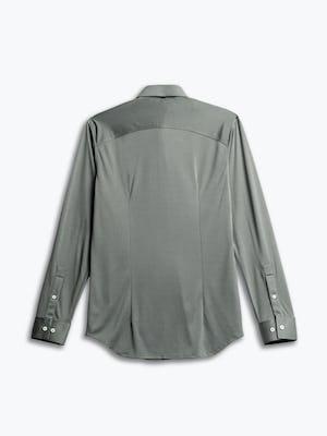men's olive solid apollo shirt flat shot of back