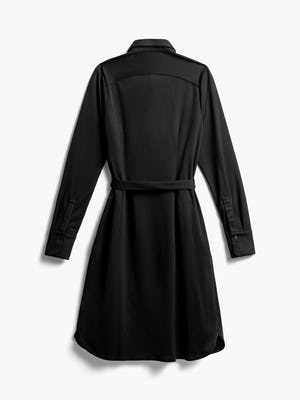 Women's Black Apollo Shirt Dress Back View