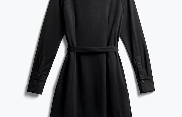 Women's Black Apollo Shirt Dress Back View