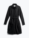 Women's Black Apollo Shirt Dress Front View