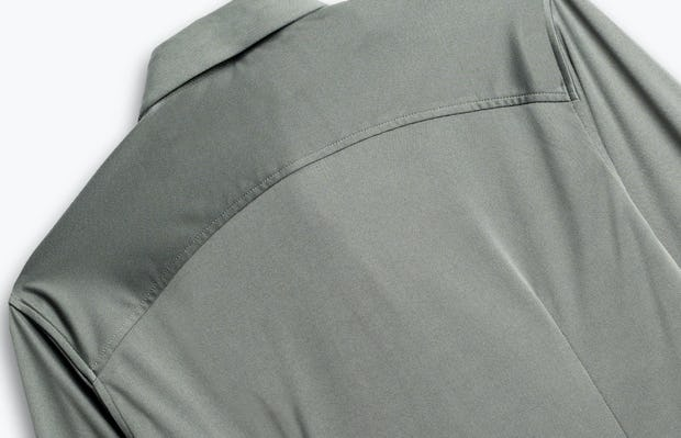 men's olive solid apollo shirt zoomed shot of back