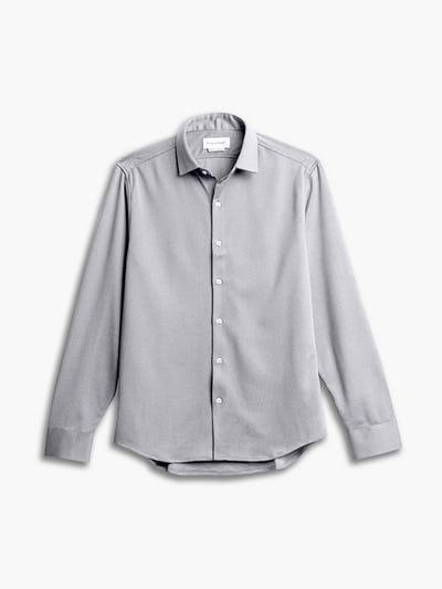 men's grey white heather apollo shirt flat shot of front