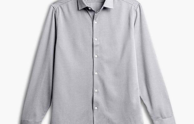 men's grey white heather apollo shirt flat shot of front