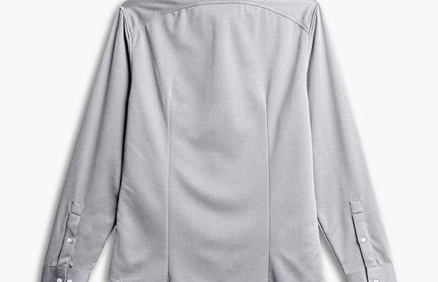 men's grey white heather apollo shirt flat shot of back