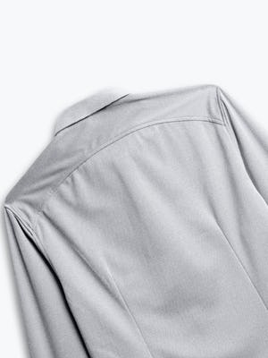 men's grey white heather apollo shirt zoomed shot of back