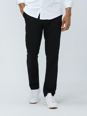 Close up of Men's Black Velocity Pant on model