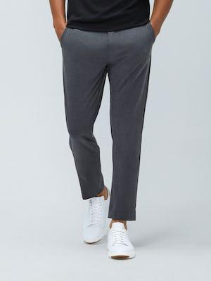 Close up of Men's Graphite Velocity Pant on model