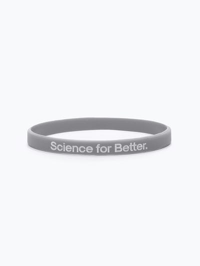 grey science for better vaccine awareness bracelet showing the science for better side