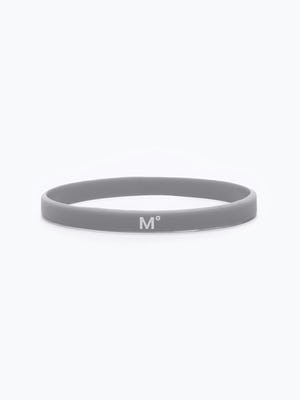 grey science for better vaccine awareness bracelet showing the M° logo