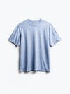 men's chambray blue composite merino active tee flat shot of front