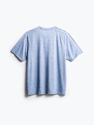 men's chambray blue composite merino active tee flat shot of back