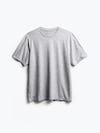 men's charcoal grey heather composite merino active tee flat shot of front