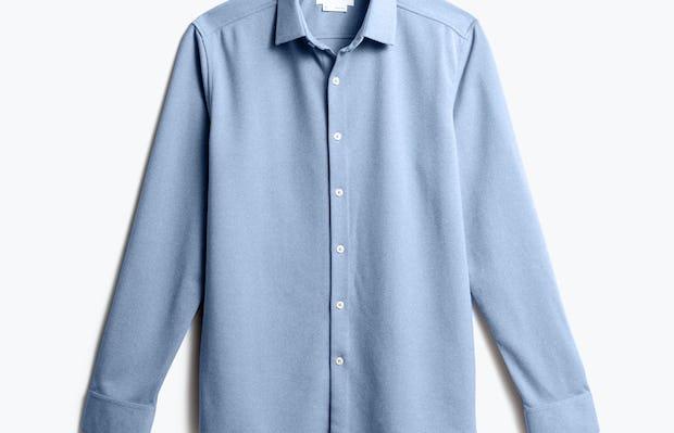 men's pale blue heather brushed apollo dress shirt front