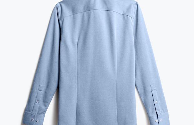 men's pale blue heather brushed apollo dress shirt back
