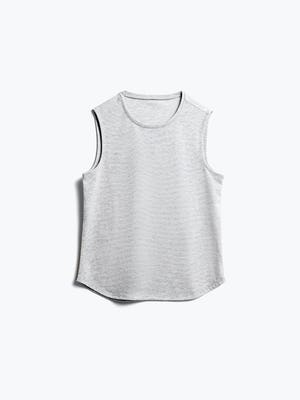 Women's Grey Heather Recycled Composite Merino Tank Front View
