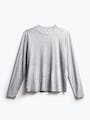 men's charcoal grey heather composite long sleeve tee flat shot of front