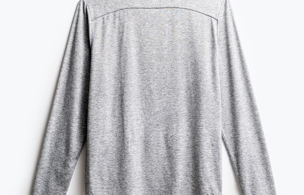 men's charcoal grey heather composite long sleeve tee flat shot of back