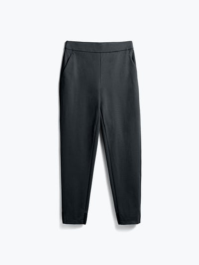 women's black kinetic pull on pant flat shot of front