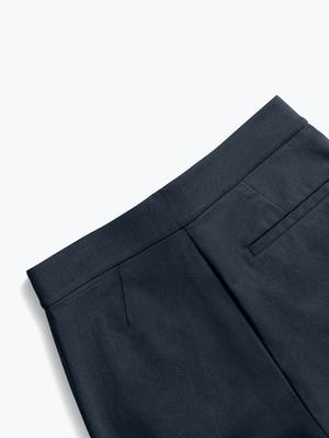 women's navy kinetic pull on pant close up of back