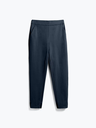 women's navy kinetic pull on pant flat shot of front