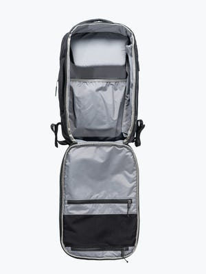 black aer lunar pack unzipped shot of interior