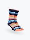 coral tip multistripe atlas crew sock