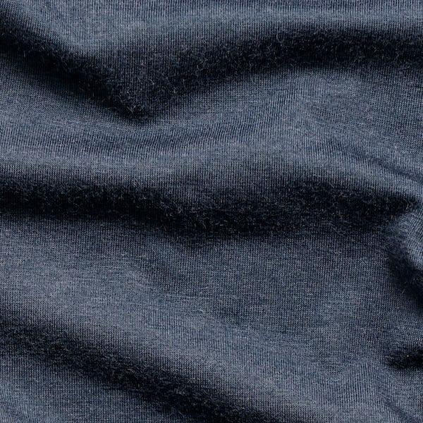 navy composite merino long sleeve tee wavy fabric