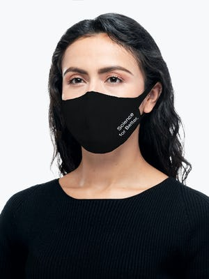 black science for better 3d print knit mask on model