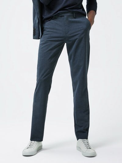 Close up of Men's Blue Velocity Houndstooth Pant on model