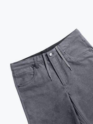 men's medium grey kinetic twill 5 pocket pant zoomed shot of front