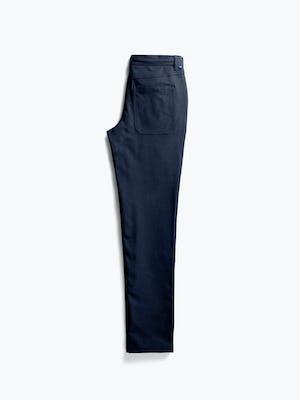 Men's Navy Kinetic Twill 5-Pocket Pant flat shot of back folded