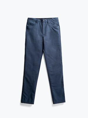Men's Steel Blue Heather Kinetic Twill 5-Pocket Pant flat shot of front