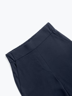 Women's Navy Swift Wide Leg Pull-On Pant zoomed shot of front
