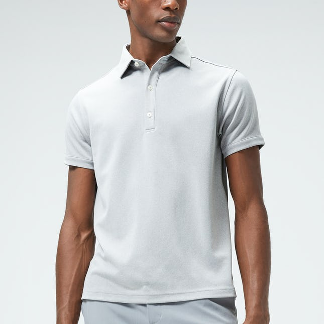 Man wearing a grey Apollo polo