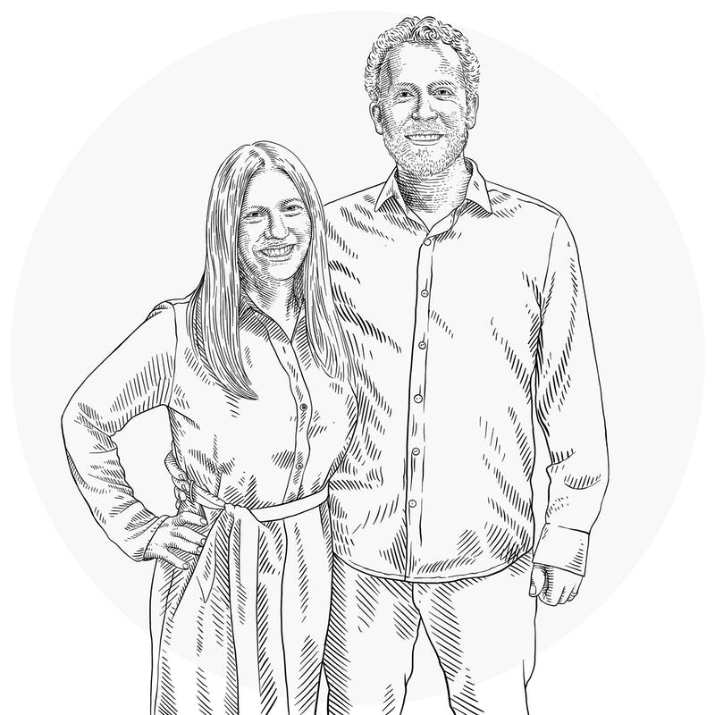 Illustration of Larissa and Mark