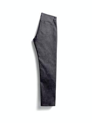 men's dark grey chroma denim flat shot of back folded