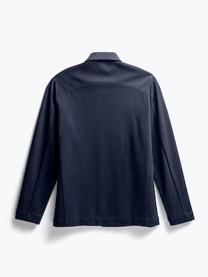 men's navy fusion chore coat flat shot of back