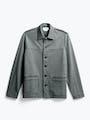 men's stone grey fusion chore coat flat shot of front