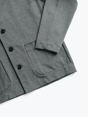 men's stone grey fusion chore coat zoomed shot of front pocket and cuff