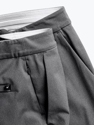 mens charcoal kinetic jogger zoomed shot of waistband and zippered pocket