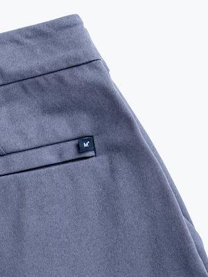 men's indigo heather kinetic jogger zoomed shot of back pocket branding