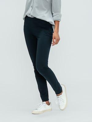 Women's Navy Kinetic Skinny Pant on model