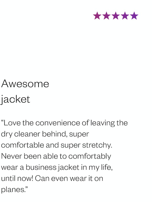 Daniel P. Review of Men's Kinetic Blazer